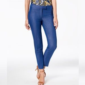 Anne Klein Blue Creased Professional Pants NWT